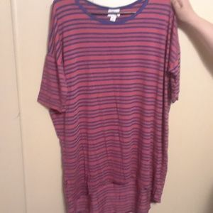 Blue and Red striped Top